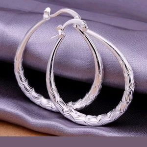 Jewelry - 💥SALE💥 Classic Oval/Pear Shapped Silver Earrings